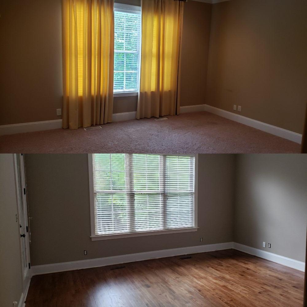 Hardwood Floor Installation and Bedroom Repaint